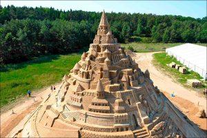 Die höchste Sandburg der Welt