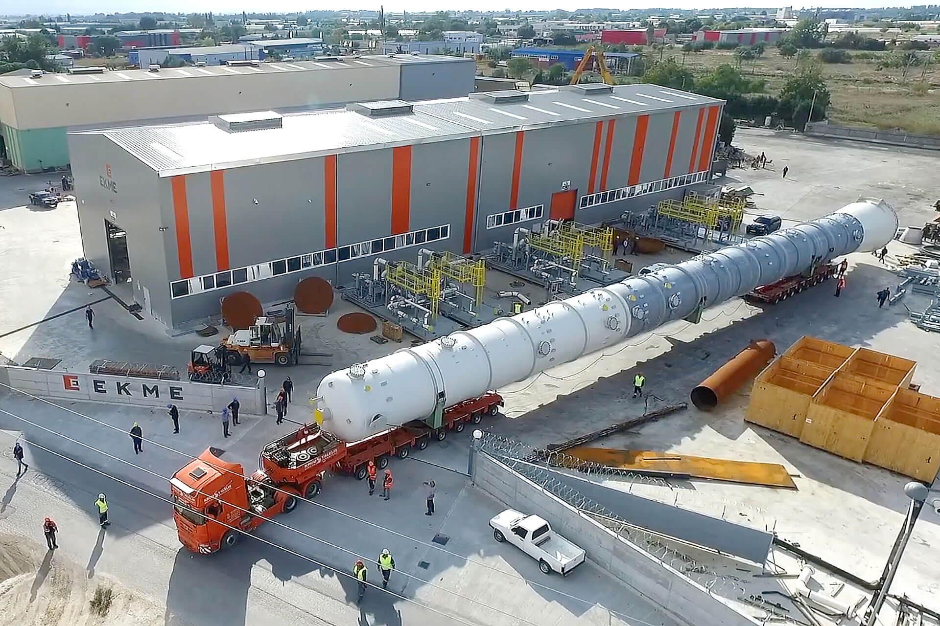 Raffinerie-Bauteile raffiniert befördert