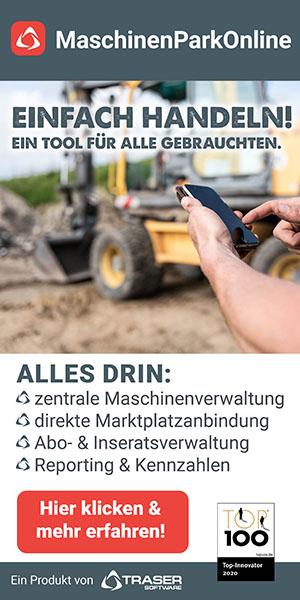 Werbung: TRASER MaschinenparkOnline