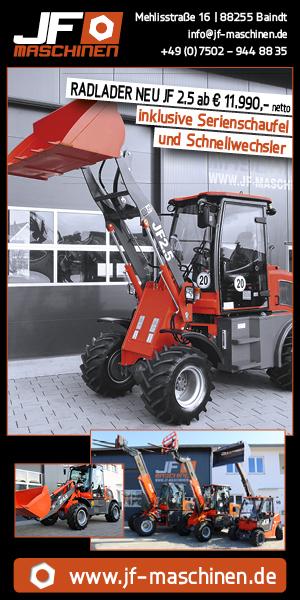Werbung: JF Machinen