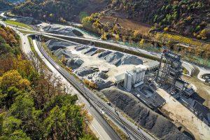 Baustelle A9 mit Ammann-Asphaltmischanlage