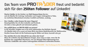 Read more about the article Der 250te Follower auf LinkedIn