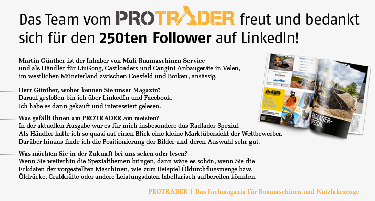Der 250te Follower auf LinkedIn