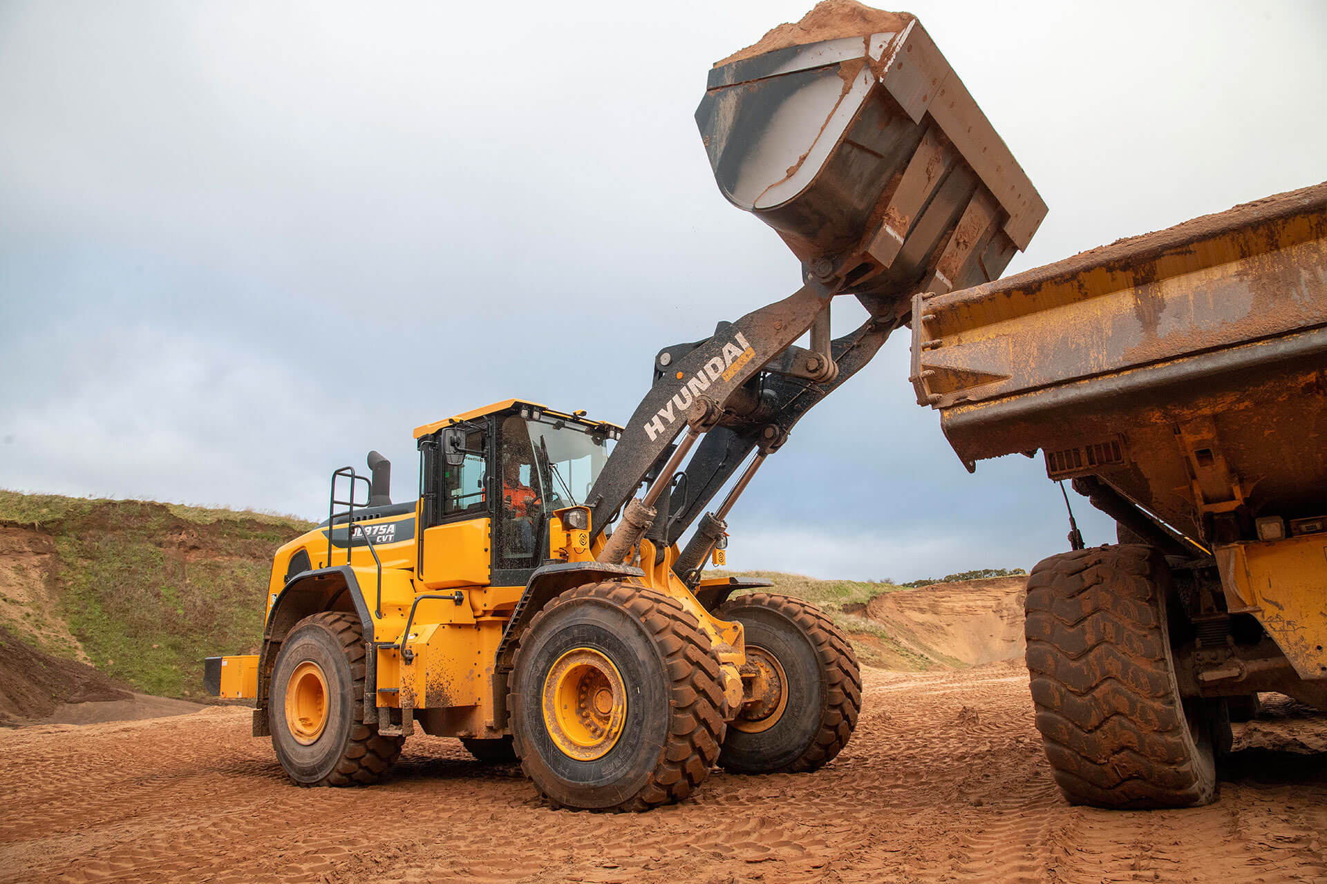 Erprobung im Steinbruch: der Hyundai HL975A-CVT
