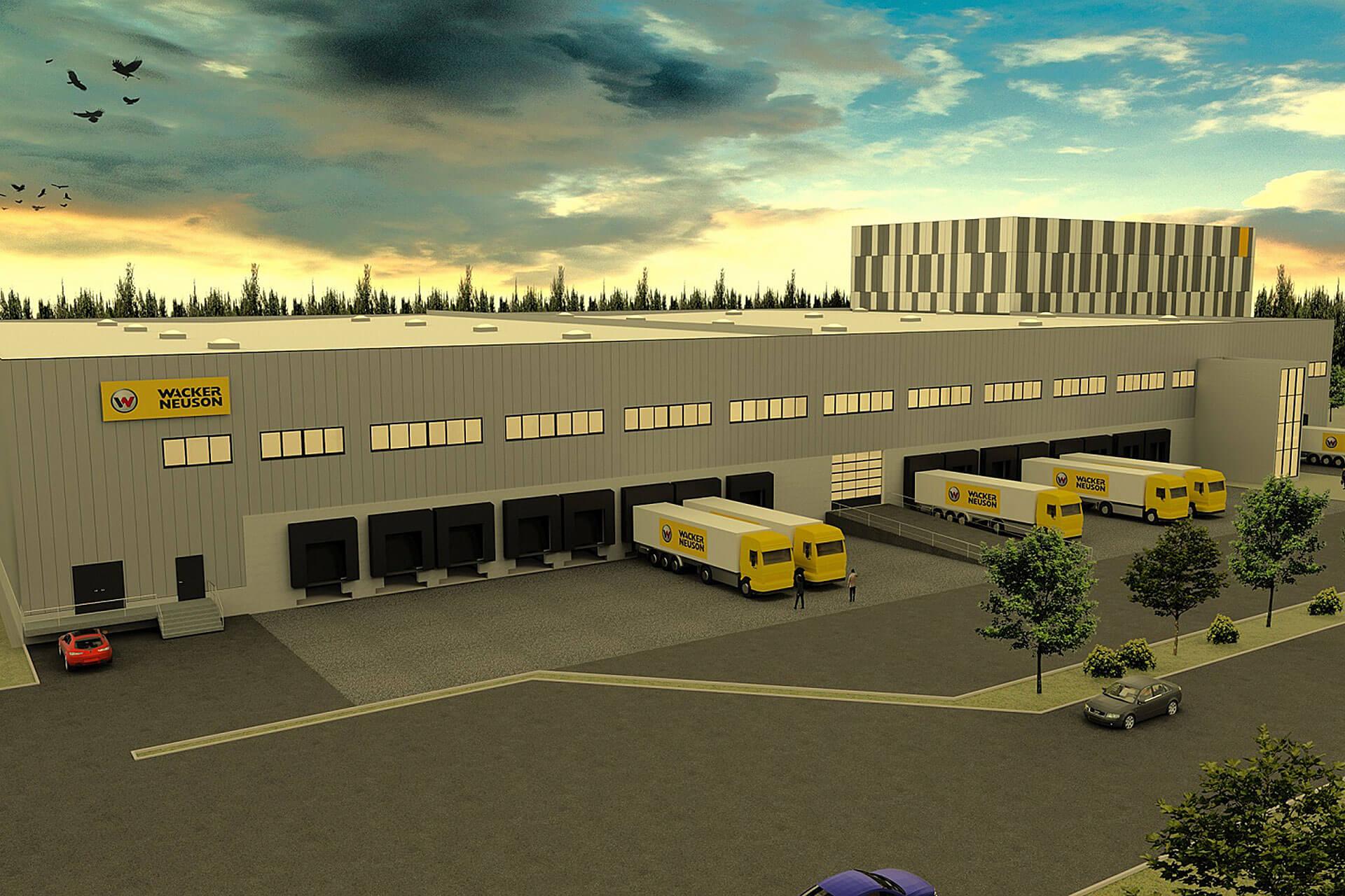 You are currently viewing Wacker-Neuson-Logistikzentrum in Reichertshofen